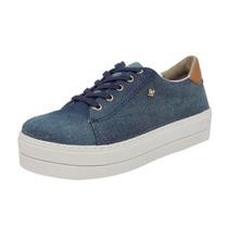 Tênis Cravo & Canela Jeans Solado Alto 148901-1