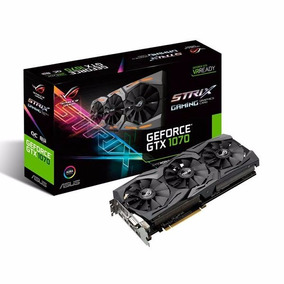Placa De Vídeo Vga Nvidia Asus Rog Gtx 1070 8gb Strix Gaming