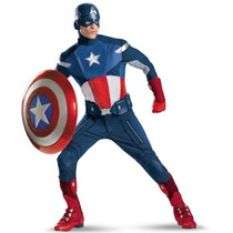 Disfraz / Replica De Capitan America De Avengers P/ Adultos