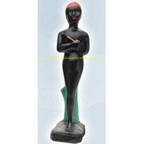 Imagem Saci Pererê Folclore Brasil Estatua 20cm Gesso Oferta
