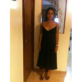 Elegante Vestido Negro Básico Coctel T10 Marsel Nuevo