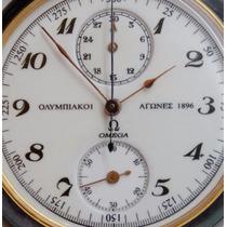 Relógio Omega Cronografo Bolso Olimpiadas Atenas 1896 Museu