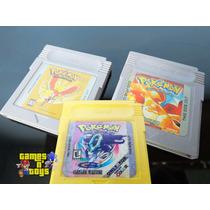 Cartuchos Pokemon Gold Crystal Red Version Paralelo Game Boy