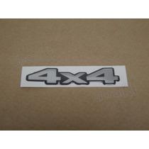 Emblema Adesivo Resinado 4x4 L200 Triton Cinza - Decalx