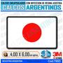 Calcomanias, Stickers, Con Relieve Bandera Japon