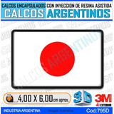 Calcomanias, Stickers, Con Relieve Bandera Japon