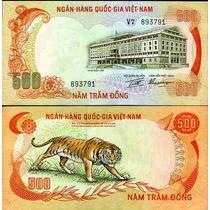 Vietnam 500 Dong Tigre De Bengala Vf