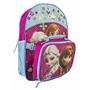 Frozen Mochila Escolar Elsa Con Lonchera Para Niñas - Disney