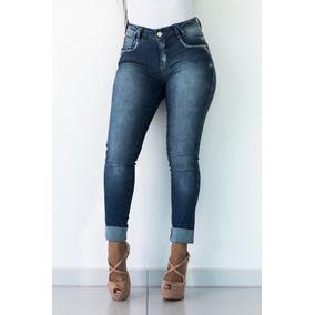 Calça Jeans Realça Bumbum Oppnus Feminina Skinny 3152