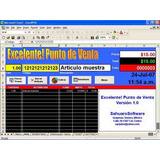 Punto De Venta Con Tickets Y Codigos De Barra En Excel