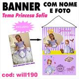 Banner Aniversário Foto E Nome Tema Princesa Sofia Will190