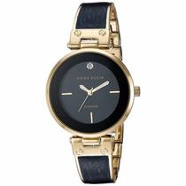 Reloj Anne Klein Ak2512nvgb Dama Azul Diamond Envío Gratis*