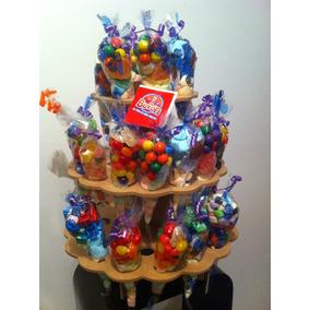 Base Madera P/bolsas Conos Dulceros, Cupcakes, Fiestas