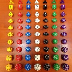 Jogo De Dados Rpg Dungeons And Dragons 10 Pçs/kit Colors