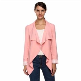 Tsuki Moda Asiatica: Blazer Saco Irregular Encaje Formal