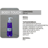 Envase Body Touch 200 Cc Pet Cremera Spa Cosmetica Cremas