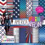 23 Itens Kit Digital Editavel Scrapbook Capitao America Arte