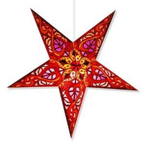 Celtic Papel Estrella Roja De La Lámpara, La Estrella De La