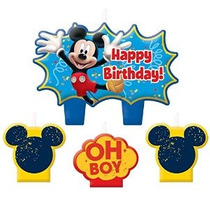 Mickey Mouse Mini Moldeado Velas - 4 / Paq.