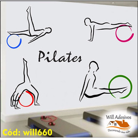 Adesivo Decorativo Pilates Exercícios Academia Bolas Will660