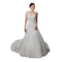 Vestido De Novia De Casa Iza Monterrey Modelo 1139 Straple