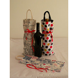 Bolsa De Tela Para Botella De Vinos Y Espumantes - 37 X 15cm