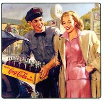 Carteles Antiguo De Chapa Gruesa 60x40cm Coca Cola Dr-355