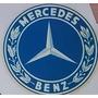 Antigua Calco Al Agua Insignia Escudo Mercedes Benz 7x7 Cm