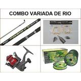 Combo Pesca Caña Reel Accesorios Para Variada De Rio N6
