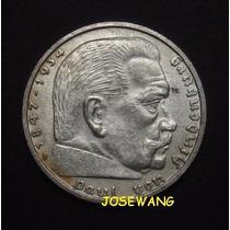 5 Reichsmark. Moneda Alemana Del Año 1939 Plata B