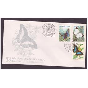 Fdc-395 1986 Borboletas - Preservação Da Fauna Brasileira