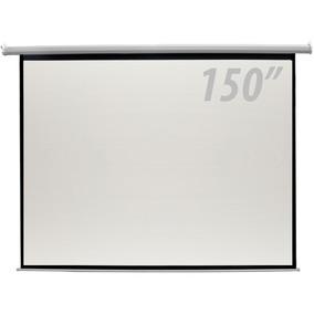 Tela De Projeção 150 Pol Elétrica C/ Controle Remoto - Csr