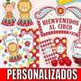 Kit Imprimible Circo Invitaciones Primer Año Bautismo