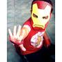 Máscara Infantil Carnaval Cosplay Ironman Homem De Ferro