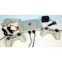 Video Game Polystation Com 2 Controles + 1 Pistola + Jogos