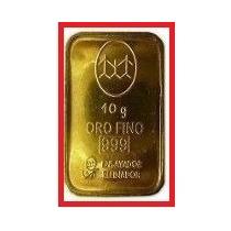 Lingote De Oro 10 Gramos Banco Ciudad 24k 999 Certif Compra