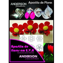 Kit Frisador Flores Eva Em Aluminio 12 Pecas + Apostila