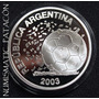 Moneda Plata Mundial Alemania Proof 2003 - Certificado Bcra