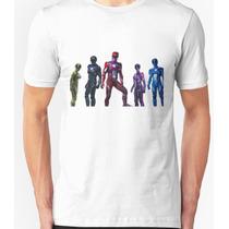 Playera O Camiseta Power Rangers La Pelicula 2017 Nueva