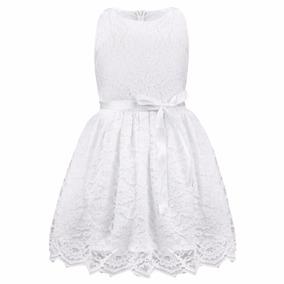 Vestido Blanco Nena Bautismo Cortejo Fiesta Sin La Cinta