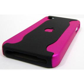 Padrisima Carcaza Fucsia-negro Para Iphone 4