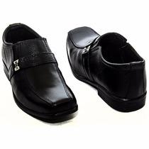Sapato Social Masculino Infantil Criança Couro Legitimo