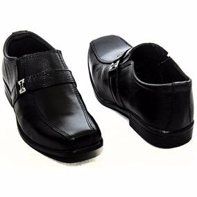 Sapato Social Masculino Infantil Crianca Couro