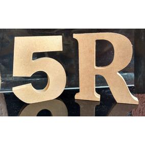 Números, Letras E Simbolos Em Mdf Cru Com 12cm Altura