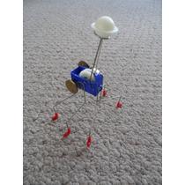 Juguete Francés Minimalista De Cuerda, Robot Caminante Metal