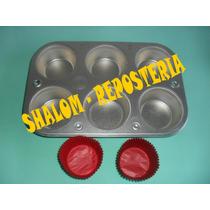 *molde Charola Para 6 Muffins Cupcake Panquecito Estandar*