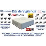 Sistema De Seguridad Hikvision 16 Cámaras Hd 1080p 1tb