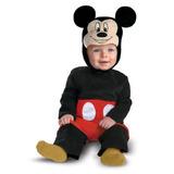 Disfraz De Mickey Mouse Para Bebe Talla 6-12 Meses