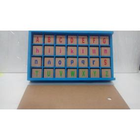 Alfabeto Abcedario Letras En Madera Lectura Juego Didáctico