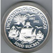 Ecuador Moneda Encuentro Dos Mundo Año 1992